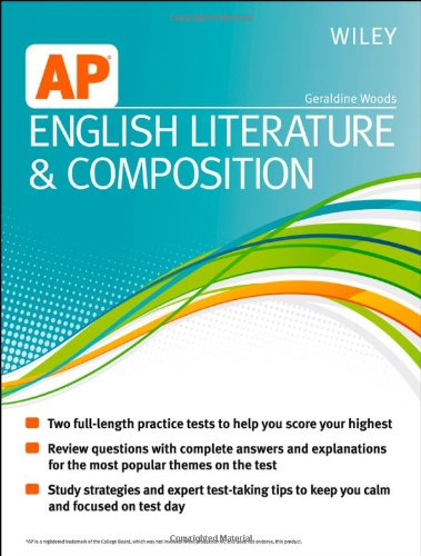 Wiley AP English Literature and Composition,PB,Geraldine Woods - NEW